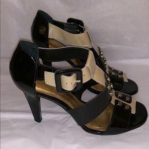 Antonio Melani Patent Leather Heeled Sandal